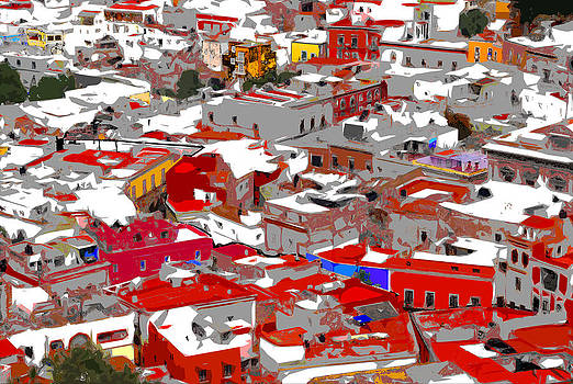 Rooftops of Guanajuato 2 by Natalie Golay