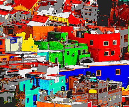 Rooftops of Guanajuato Detail I by Natalie Golay