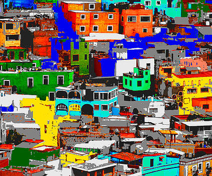 Rooftops of Guanajuato Detail II by Natalie Golay