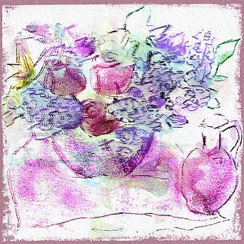 Rose Bouquet Watercolor by Jill Balsam