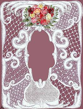 Roses and Lace Matting by Jenny Elaine
