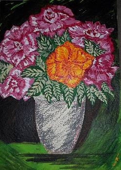 Roses in a Vase by Iris Devadason
