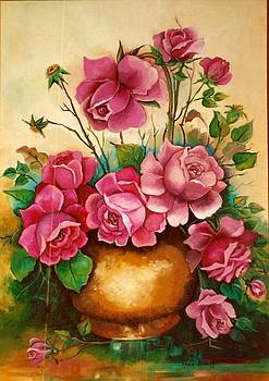 Roses In Pink by Ansie Boshoff