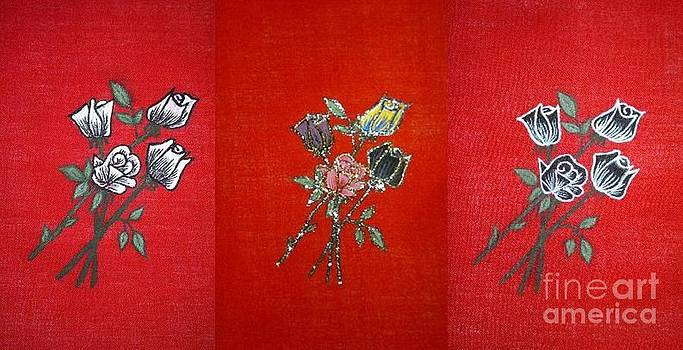 Roses in Tryptic  by Dye n  Design