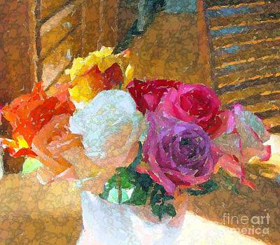 Roses on the table by Annie Gibbons