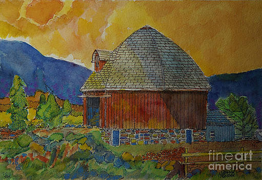 Round Red Barn PA by Donald McGibbon