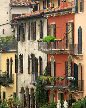 Row of Houses in Verona by Greg Matchick