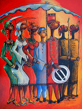 Royal Procession 3 by Omenihu Amachi