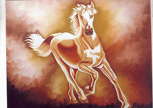 Running Horse by Rohit Rohit
