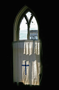 Rural Church Window by Christine Burdine