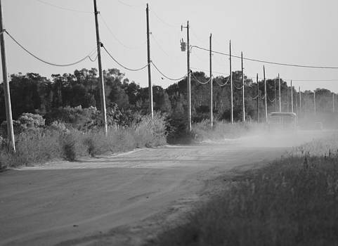 Ronald T Williams - Rural Dirt Road In Black And White