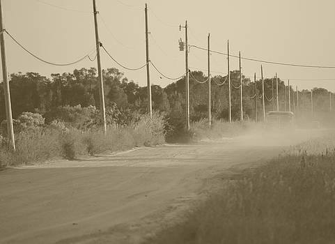 Ronald T Williams - Rural Dirt Road In Sepia