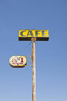 Rusted Cafe Sign by Bryan Mullennix