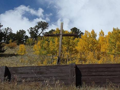 Rustic Autumn Cross by Donna Parlow