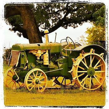 Rustic John Deer Tractor In Texas From by Jeff Jordan