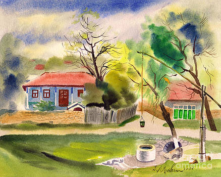 Rustic Landscape by Vasile Movileanu