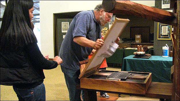 Glenn Bautista - Rusty Lifting a Print 2009