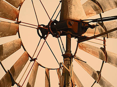 Rusty Windmill by Mamie Thornbrue