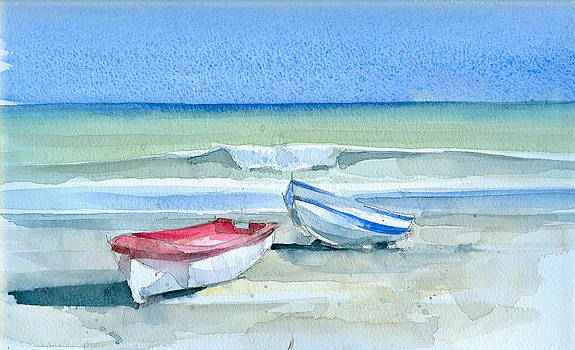 Sabinillas Fishing Boats by Stephanie Aarons
