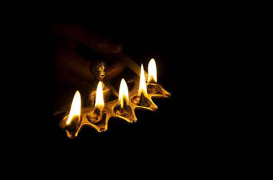 Sacred flames by Sumanta Dutta
