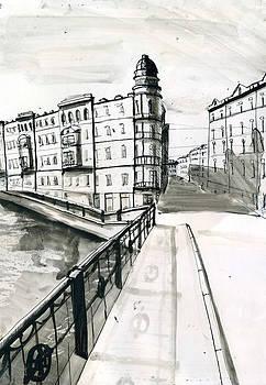 Sadovaya Embankment by Lelia Sorokina
