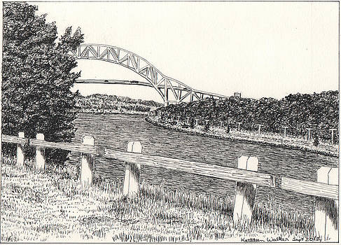 Sagamore Bridge Cape Cod Canal by Kathleen Walker