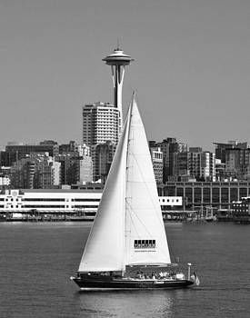Julie Magers Soulen - Sailboat and Space Needle