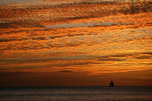 Sailboat at sunset by Bryan Allen