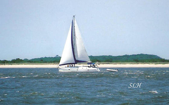 Sailboat on the water by Lee Hartsell
