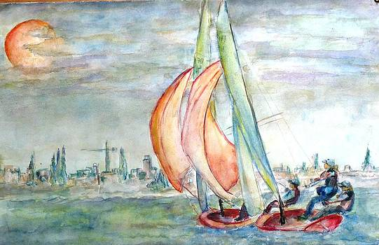 Sailing boats by Baruch Neria-Kandel