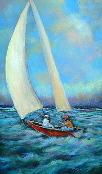 Sailing I by Holly LaDue Ulrich