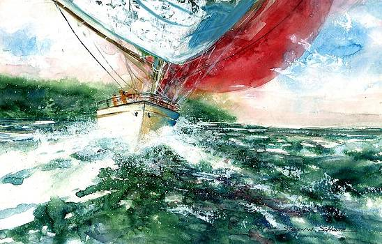 Sailing On The Breeze by Steven W Schultz