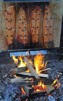 Salmon smoked over wood by Matthias Hauser