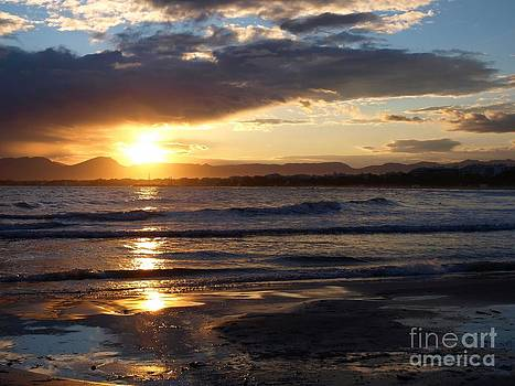Salou Beach Sunset by Alfredo Rodriguez