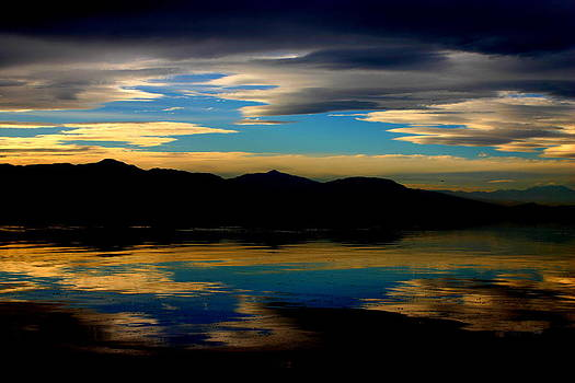 Salton Sea Sunset Number Four by Scott Brown