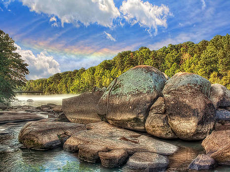 Saluda River Rocks by Jenny Ellen Photography