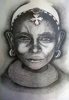Samburu Tribe II. by Paula Steffensen
