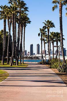 Paul Velgos - San Diego Skyline with Coronado Island Bayshore Bikeway