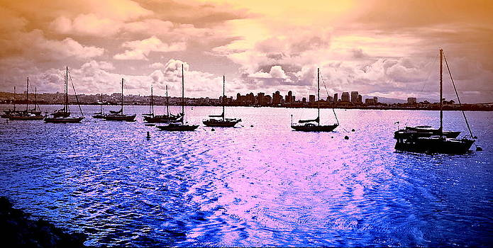 San Diego View From Shleter Island II by Visual Artist  Frank Bonilla