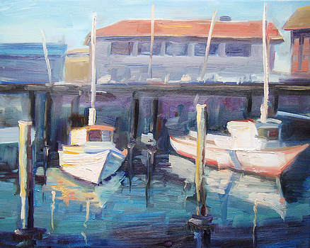 San Francisco Bay Boats by Brandy Cattoor