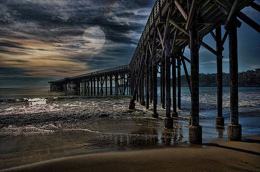 San Simeon By Moonlight by Bob Kramer