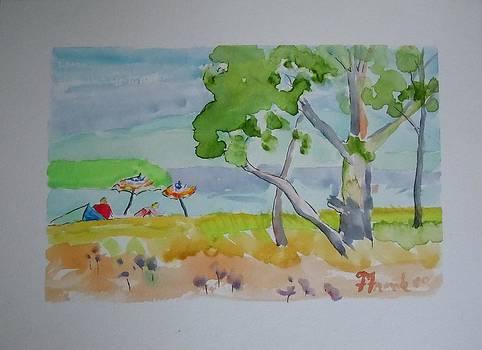 Sandpoint Bathers by Francine Frank