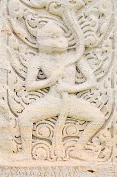 Sandstone carving by Kanoksak Detboon