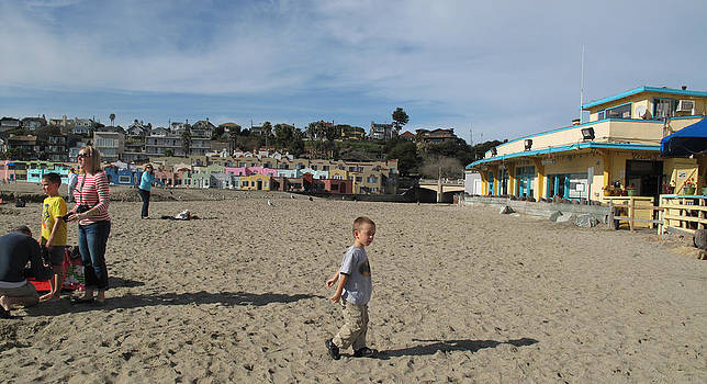 Santa Claus Arrives in Capitola by Larry Darnell