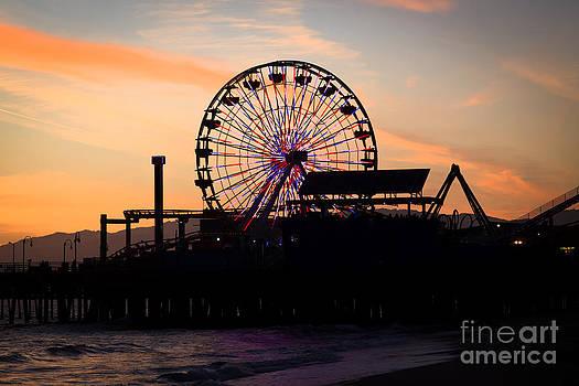Paul Velgos - Santa Monica Pier Ferris Wheel Sunset