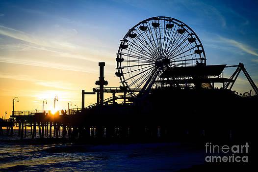 Paul Velgos - Santa Monica Pier Ferris Wheel Sunset Southern California