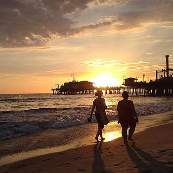 Santa Monica Sunset by Denise Taylor