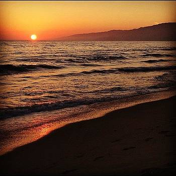 #santamonica  #sunset by Denise Taylor