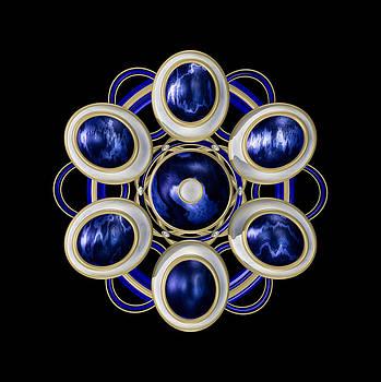 Hakon Soreide - Sapphire and Gold Brooch