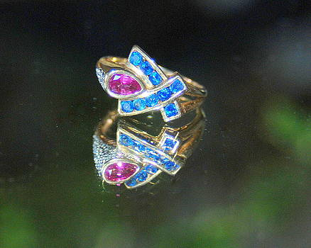 Sapphires And Ruby Reflections by Vicki Coover